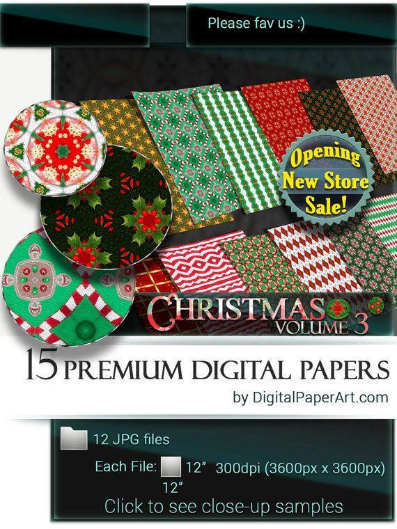 Christmas Digital Paper pack vol.3 Christmas by DigitalPaperArt