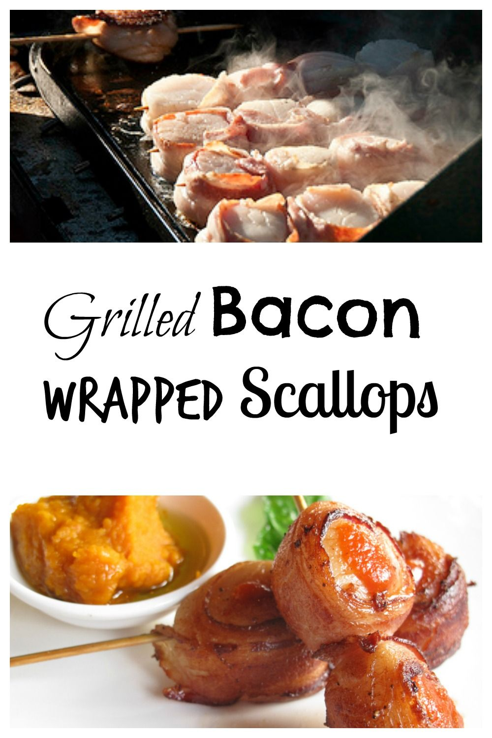 Grilled Bacon Wrapped Scallops   Grilled scallops, Bacon and Grilling