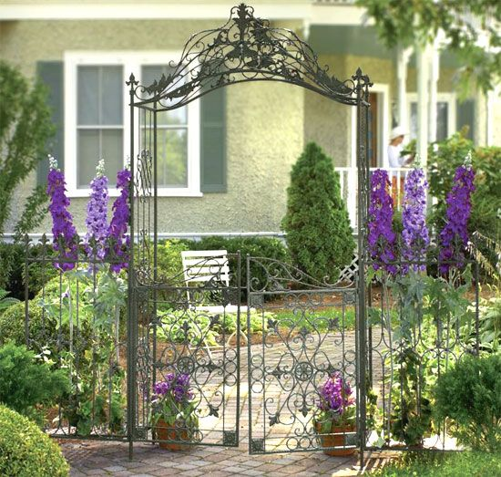 Garden Gate Arbors Designs again double gate and slightly wider arbor for the side of the house next The Amazing Of Metal Garden Gates Design To Decorate Your Garden What An Inviting