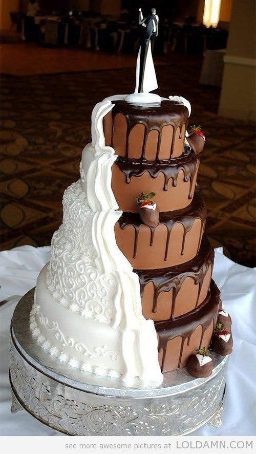 This is the coolest wedding cake ever! #creative #love