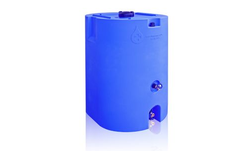 Blue 160 Gallon Water Storage Tank Emergency
