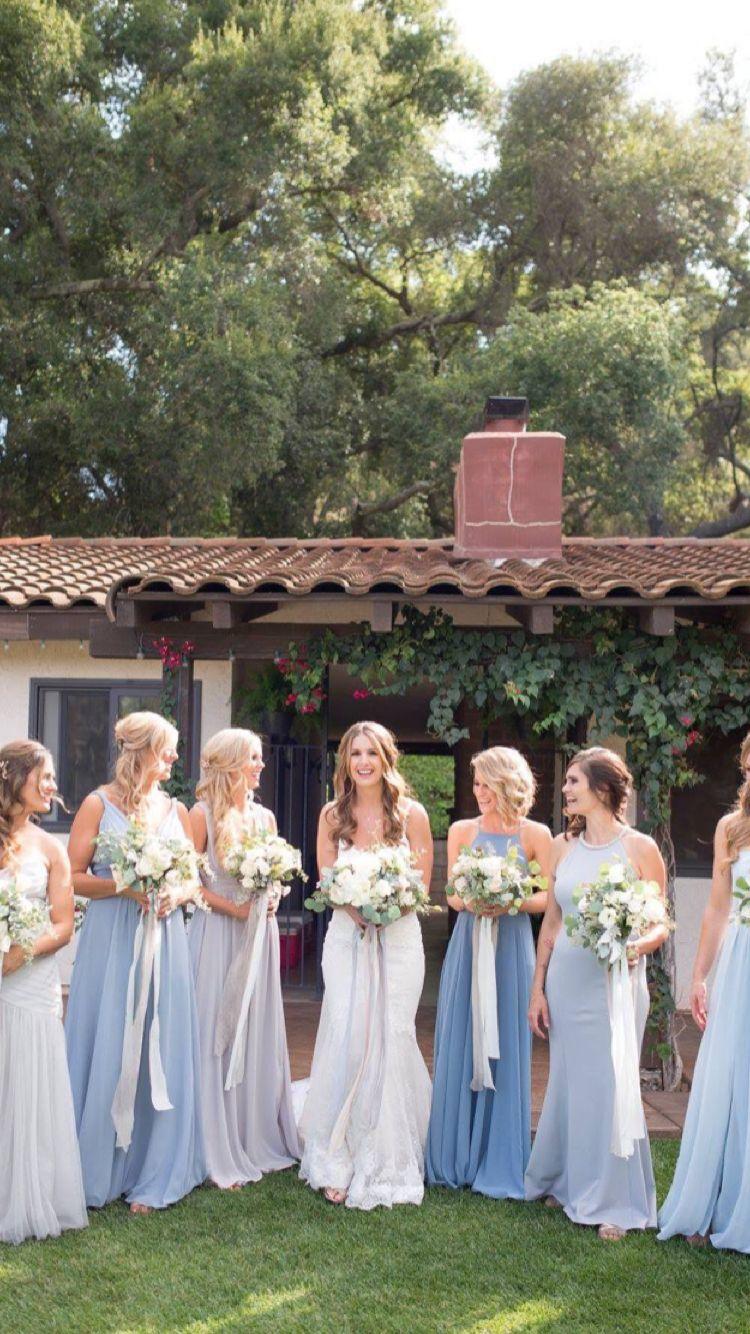 Dusty Blue And Grey Bridesmaid Dresses Mismatch Bridesmaids Comfort Wedding Mismatched Bridesmaid Dresses Blue Bridesmaid Colors Mixed Blue Bridesmaid Dress