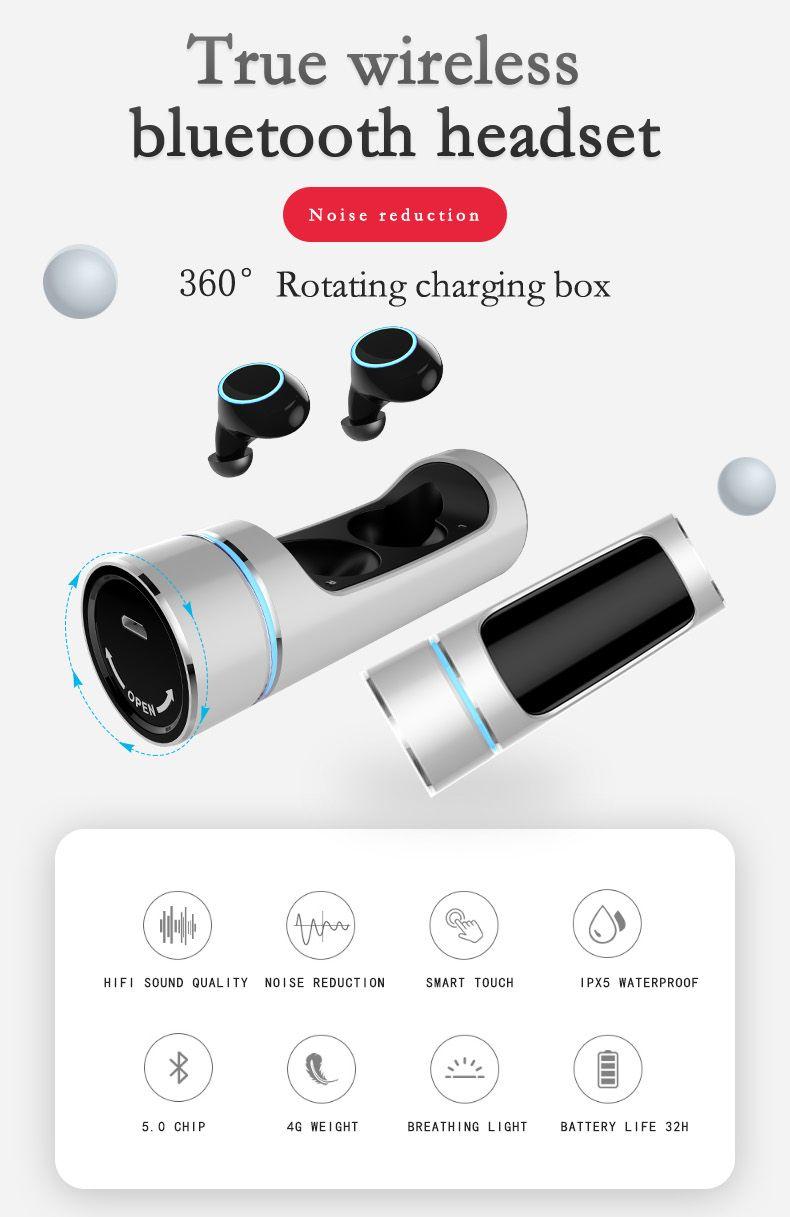 E8 true wireless bluetooth headset tws touch hifi noise