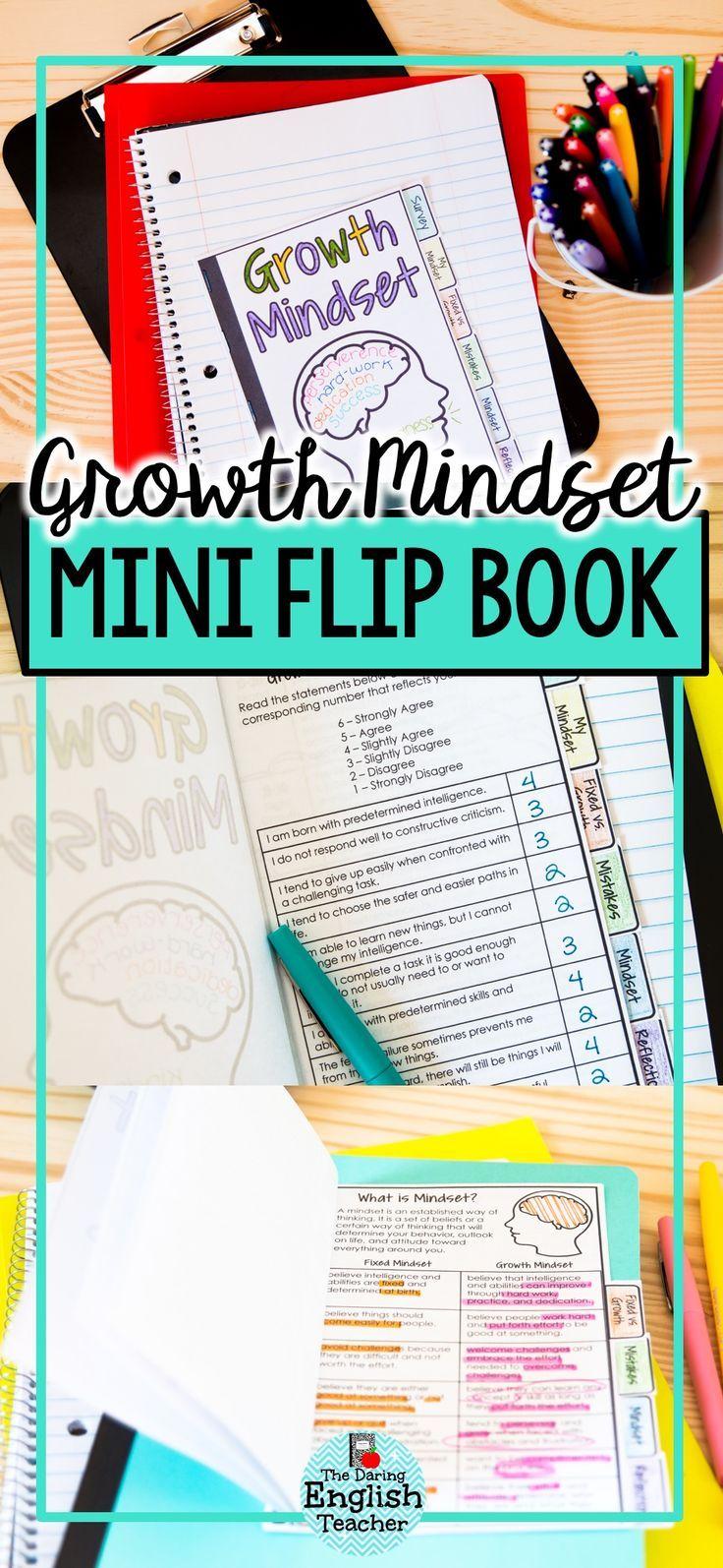 Growth mindset mini flip book mini flip book growth