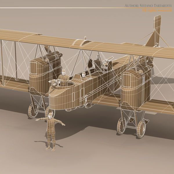 Gotha G Iv Bomber 3d Model Obj 3ds Fbx C4d Dxf Dae 2