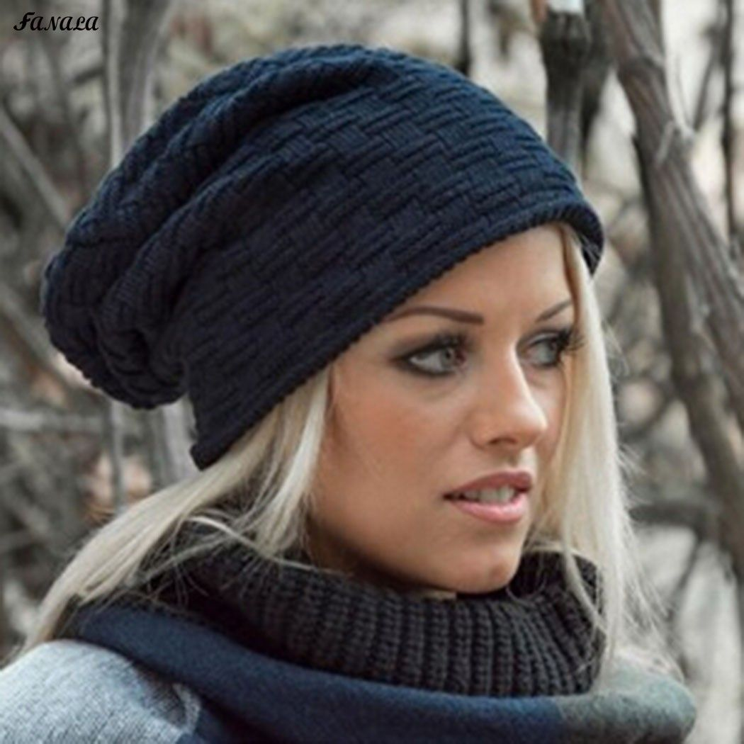 847282c3480 Click to Buy    Winter Hat for Women Men Knitted Cotton Hat Beanies Cap  Brand New Thick Solid Stretchy Female Cap  Affiliate.