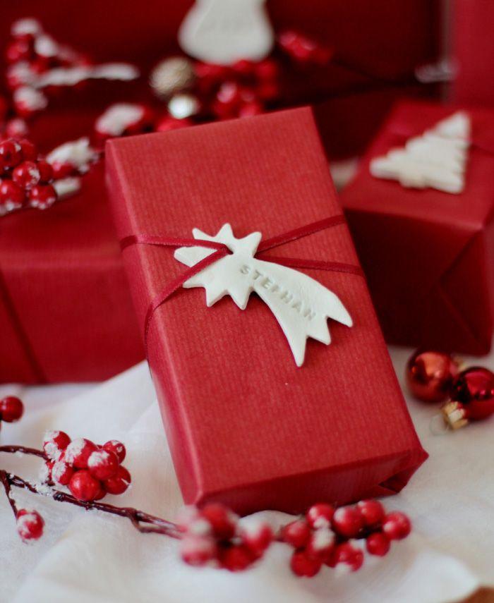 Personalisierte Anhänger für eure Weihnachtsgeschenke mit FIMO ...