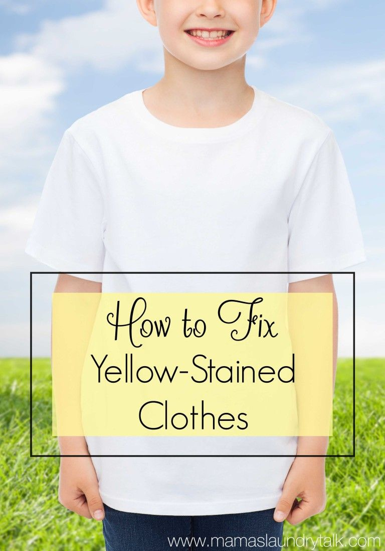 Have your white clothes turned yellow? Here's how to fix