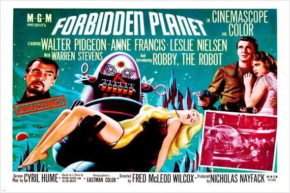forbidden planet movie poster 2436