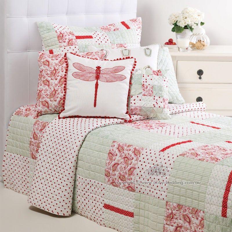 Vintage Summer Cot Quilt Set Girls Bedroom Themes Cot Quilt