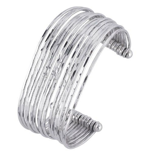 Sterling Silver Wire Hammered Cuff Br... $246.81 #bestseller