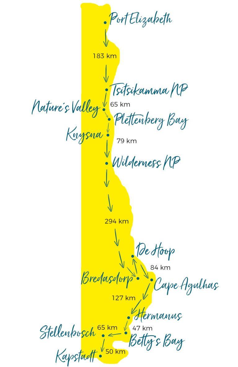 Garden Route Südafrika: Alle Highlights & Tipps mit Karte