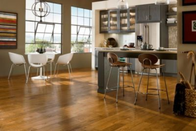 Honey Hickory Hand Scraped Engineered Hardwood Engineered Hardwood Luxury Vinyl Tile Flooring Flooring