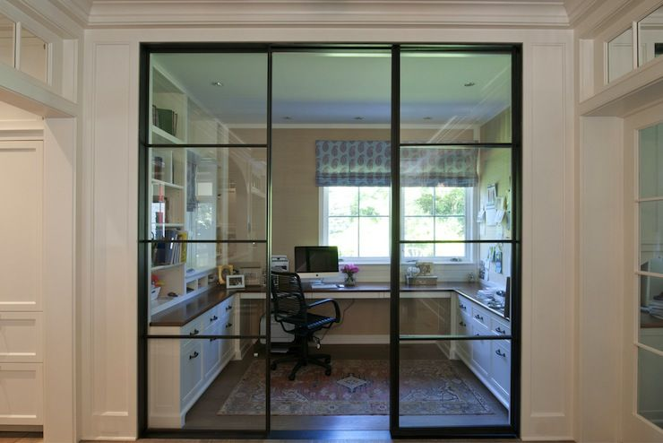 Nightingale Design Glass Enclosed Home Office With Built In Desks