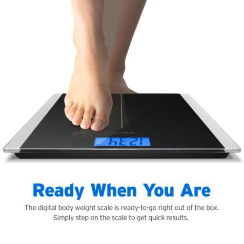 Etekcity Digital Body Weight Bathroom Scale With Body Tape Measure 400LBS