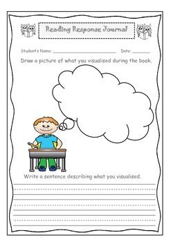 This activity is great for independent or guided reading. Students are visualising what they read. This resource can be used with any book and is targeted to: K-3 years. Used for personal use only.