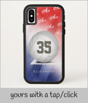 Ace Volleyball Serve Women S Red White And Blue Case Mate Iphone Case Zazzle Com In 2020 Blue Cases Lady In Red Red And White