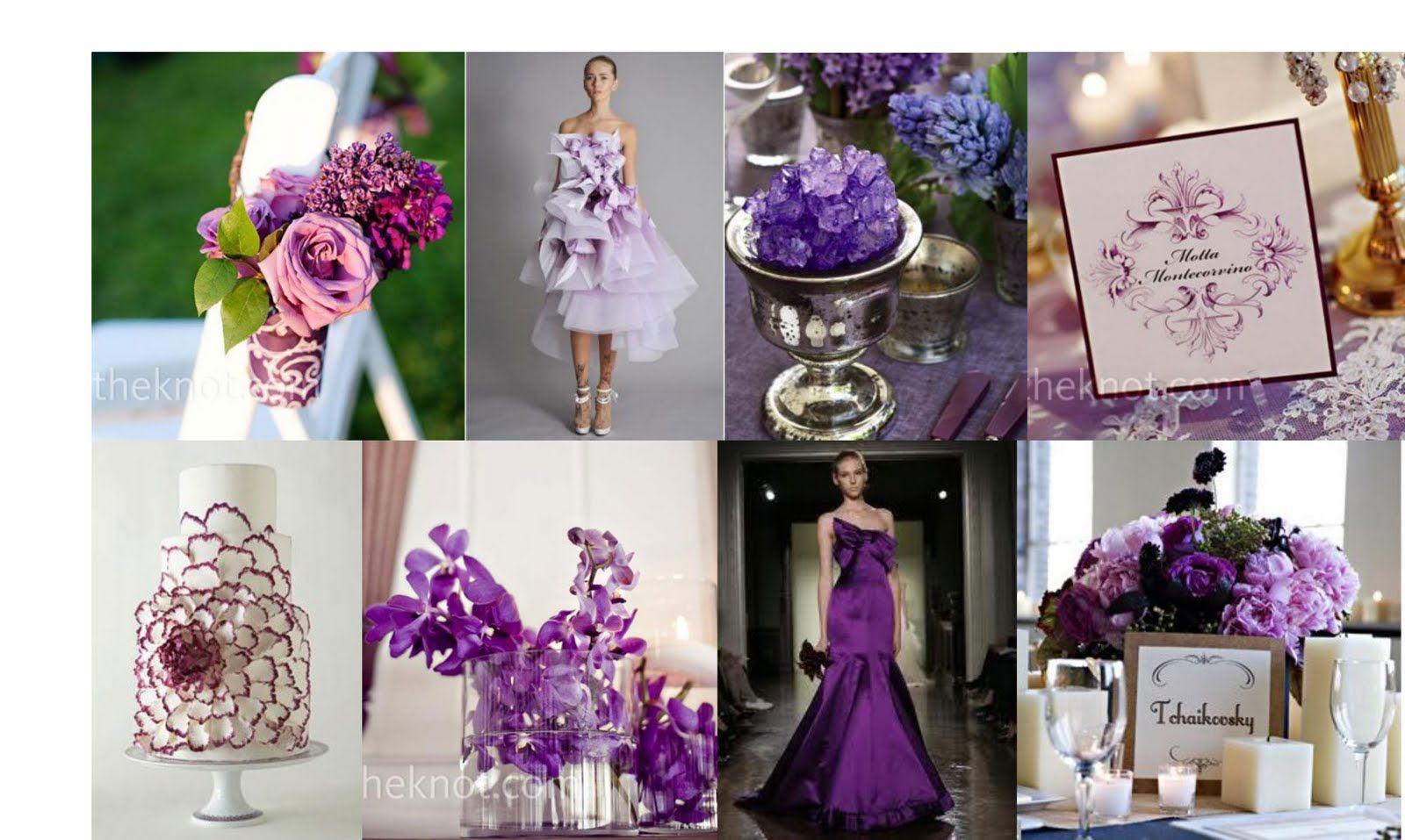Purple and blue wedding decor  POUR LE CHOUCHOU SUMMER WEDDING COLORS  wedding decor