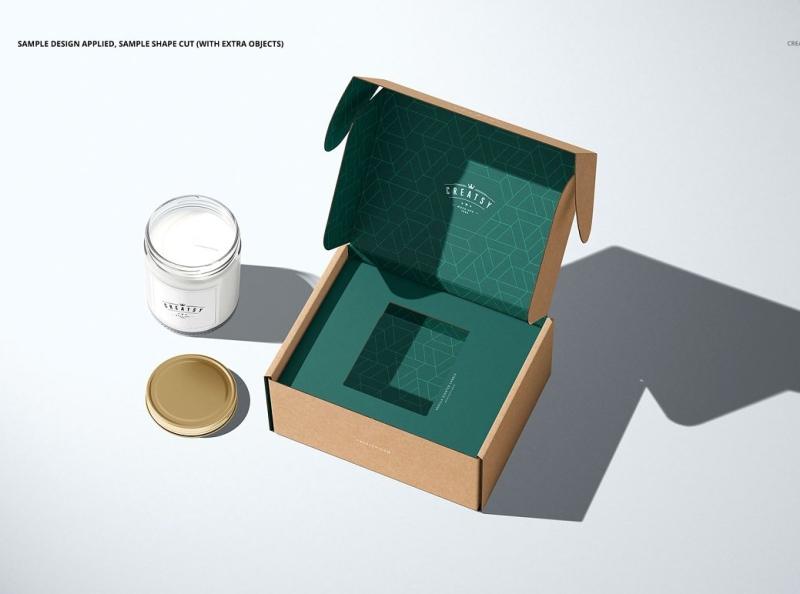 Download Tray Mailing Box Mockup Set By Mockup5 On Dribbble Box Mockup Mockup Box Template