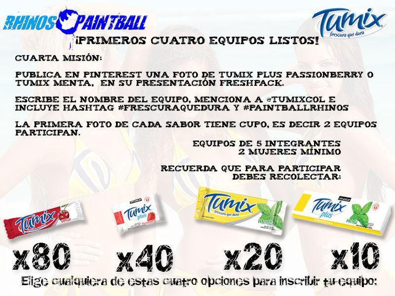 Cuarta Misión Mini-Torneo @PaintballRhinos @TumixCol #FrescuraQueDura :D