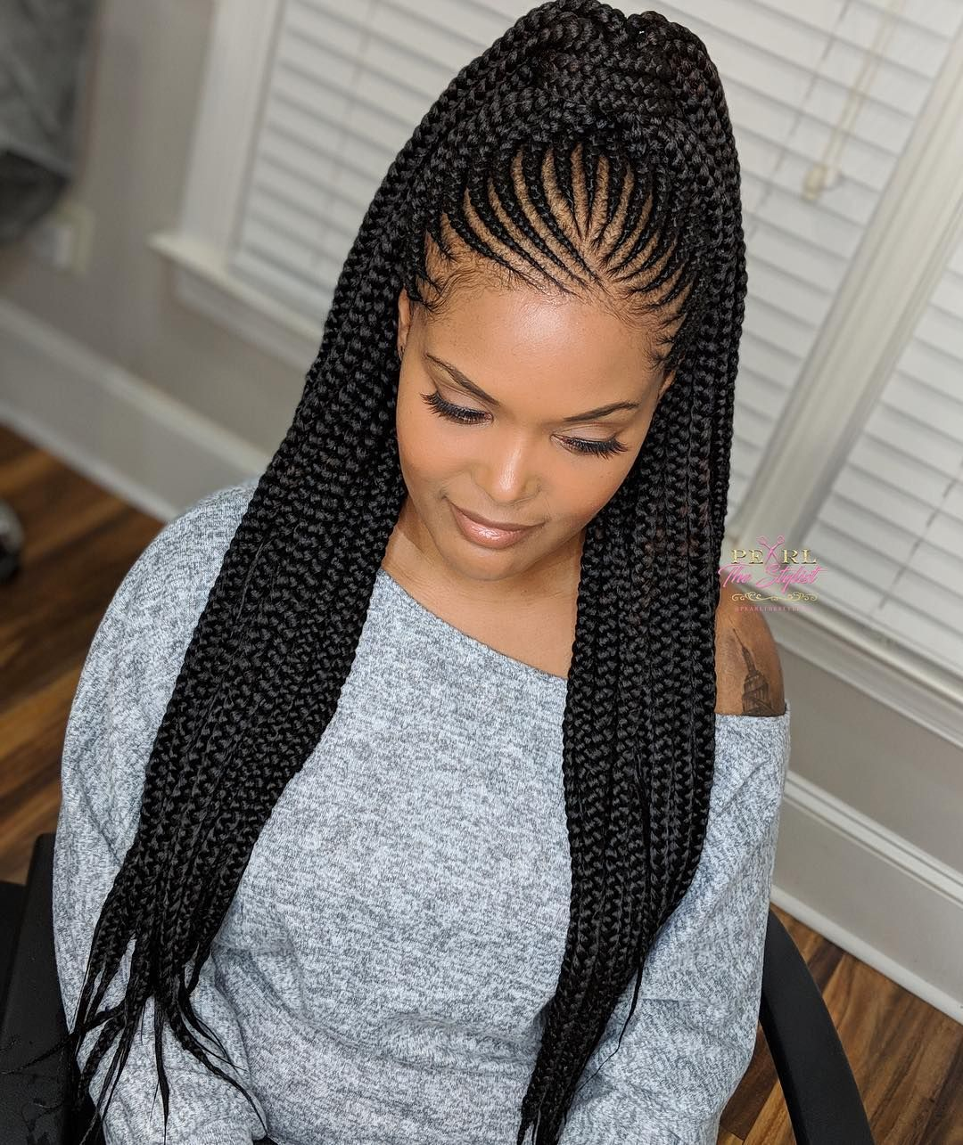 nigerian hair styles waist length tribal braids can be worn 4414 | fd45b65fb6aa4920928998b4b14c4414