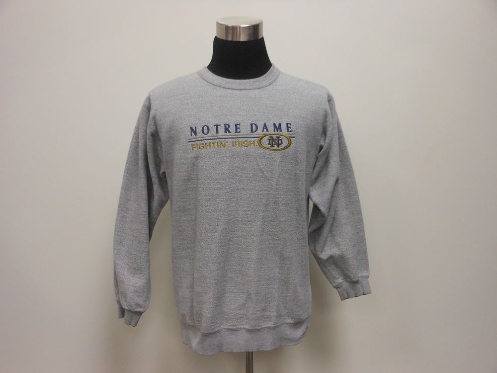 Vtg 90s Pro Player Notre Dame University Fight Irish Crewneck Sweatshirt M SEWN #ProPlayer #NotreDameFightingIrish #tcpkickz