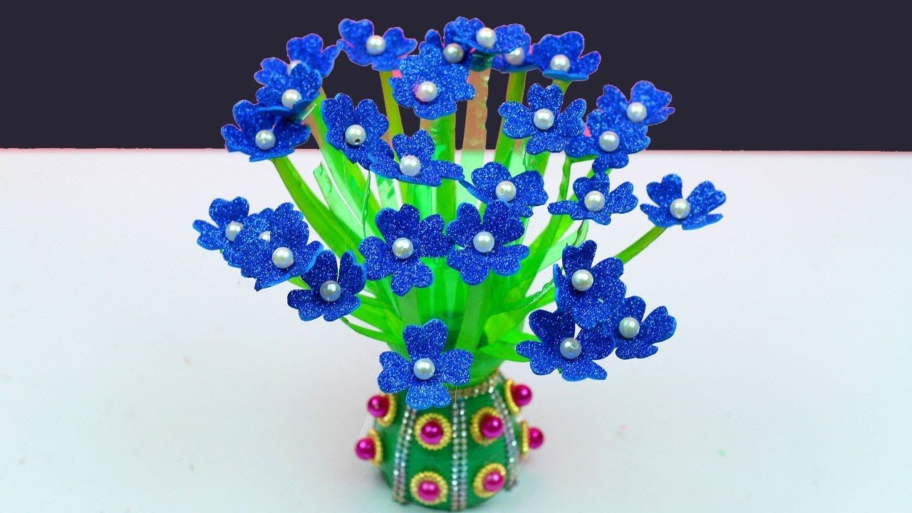 How To Recycle Plastic Bottles Guldasta At Home Making Crafts