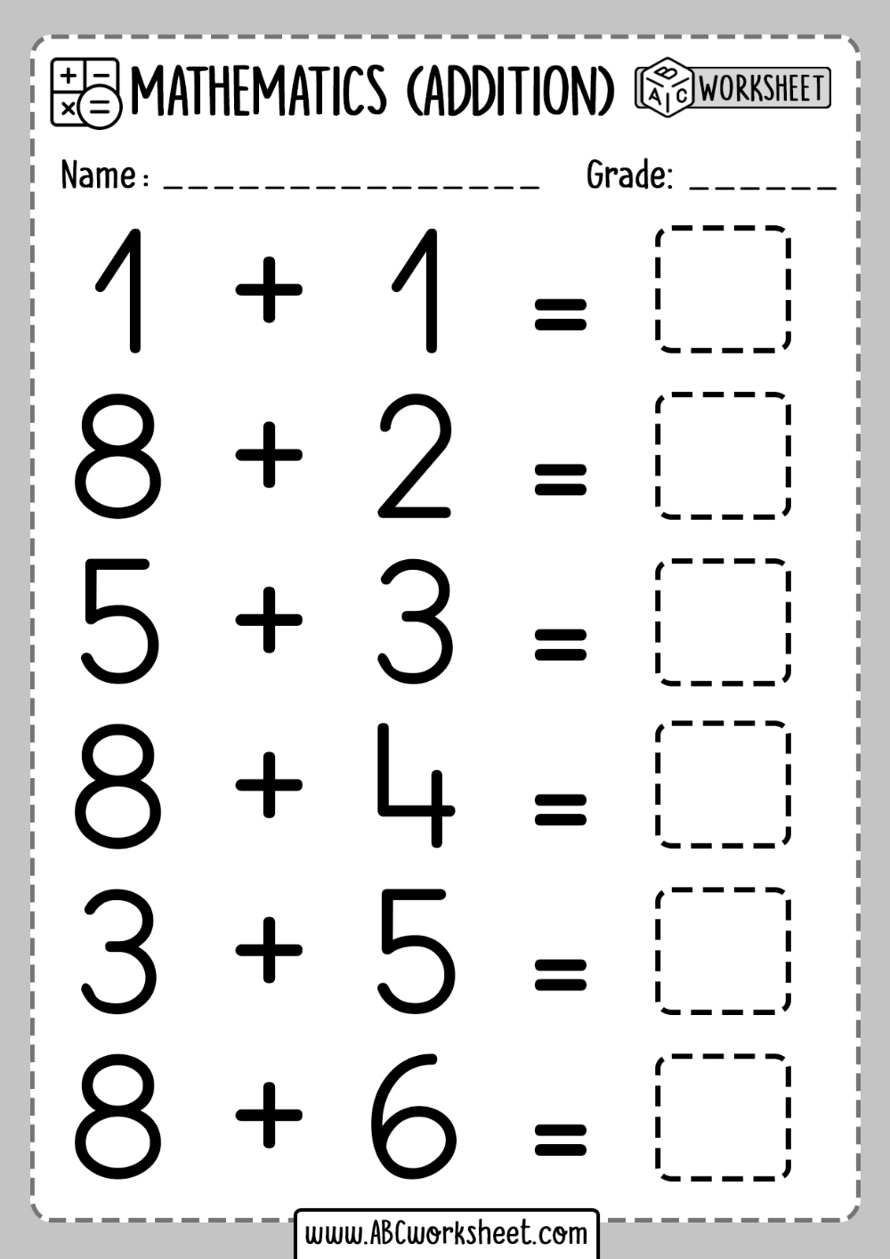 small resolution of 1st Grade Math Worksheet Addition - ABC Worksheet en 2020