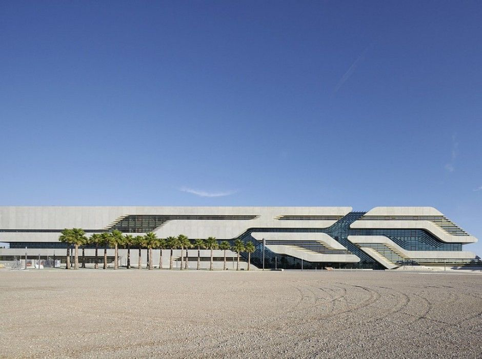 Modern Architecture Zaha Hadid pierres vives library & sports department building in montpellier