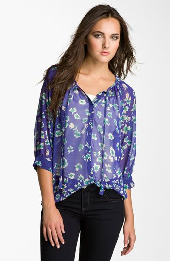 Olivia Moon Print Peasant Blouse available at #Nordstrom
