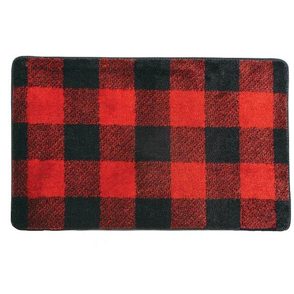 Buffalo check cabin pinterest cabin fever bath rugs for Cabin bathroom rugs