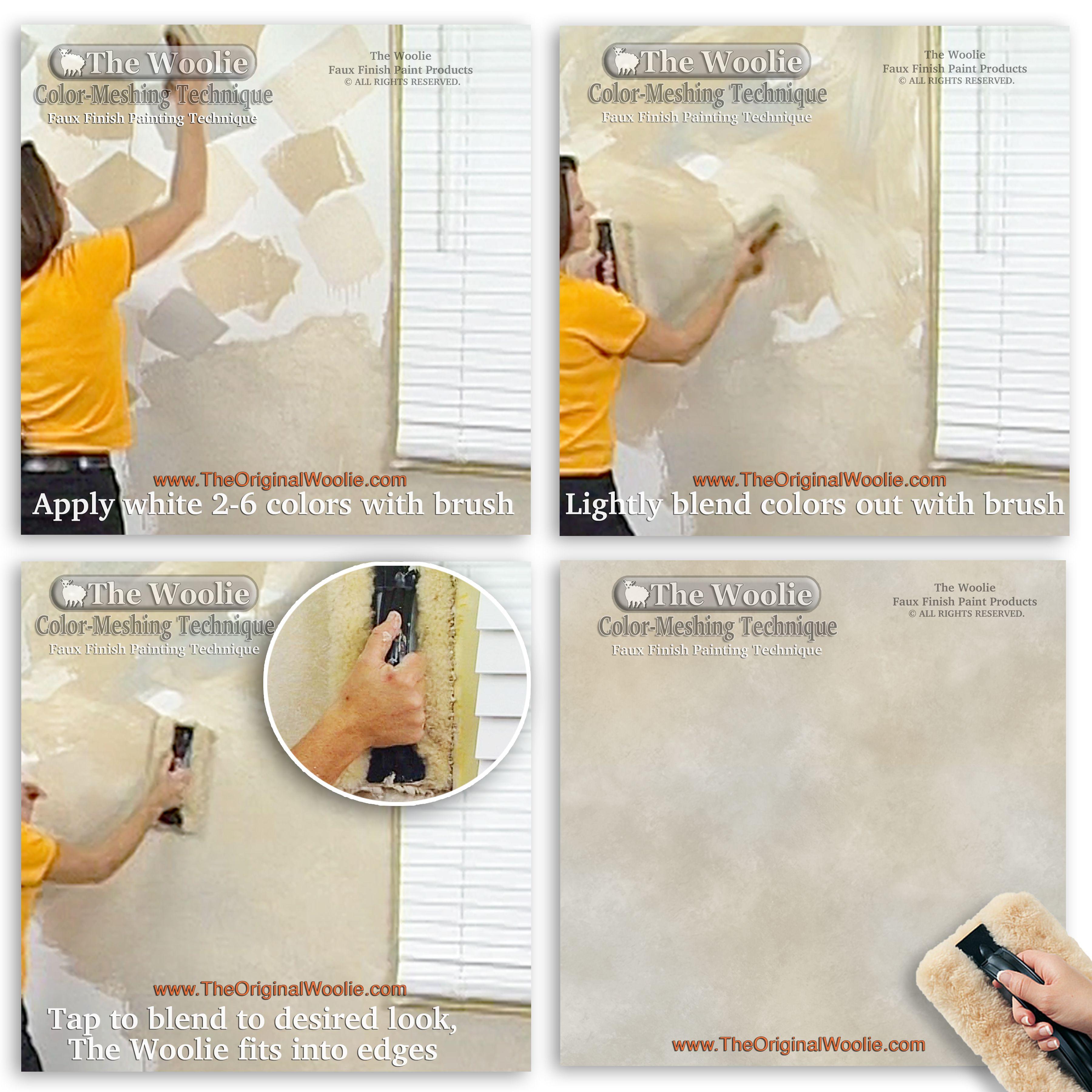 Original faux finish paint technique starter kit sponge for How to sponge paint a wall without glaze