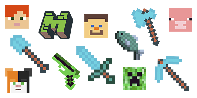 A Collection Of Minecraft Cursors Designed With Pixel Art In Mind Pixel Art Pixel Art Design Free Art Download