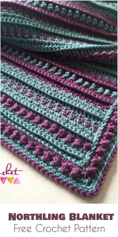 Northling Blanket Free Crochet Pattern | Afghan Crochet | Pinterest ...