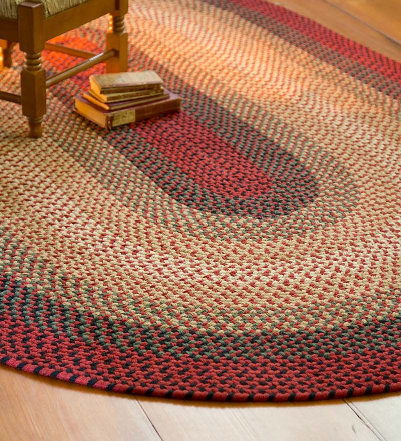 8 X 11 Usa Made 100 Wool Virginia Braided Rug Rug Pinterest