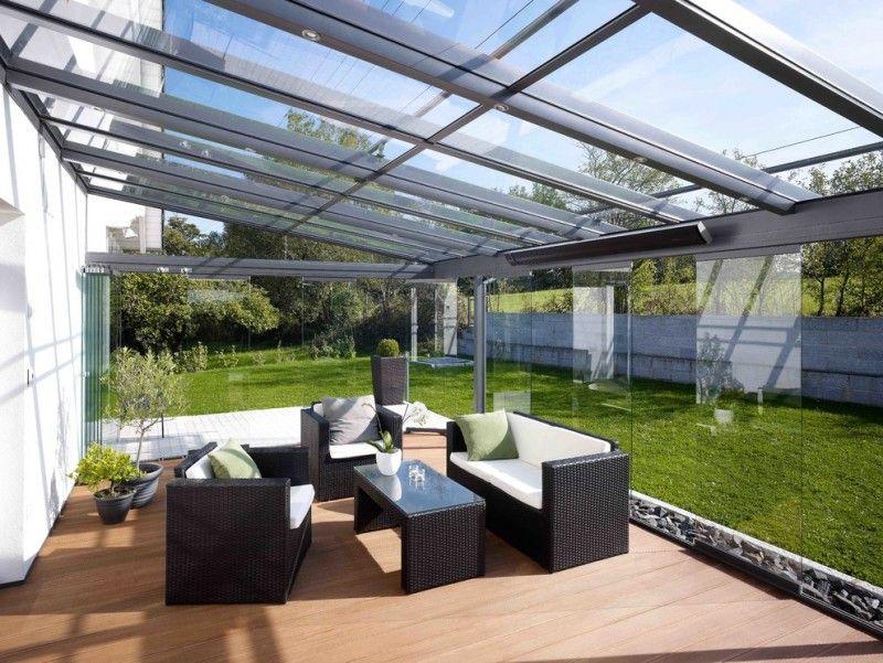 Wintergarten Überdachung-Dachverglasung Wintergarten - auswahl materialien terrassenuberdachung