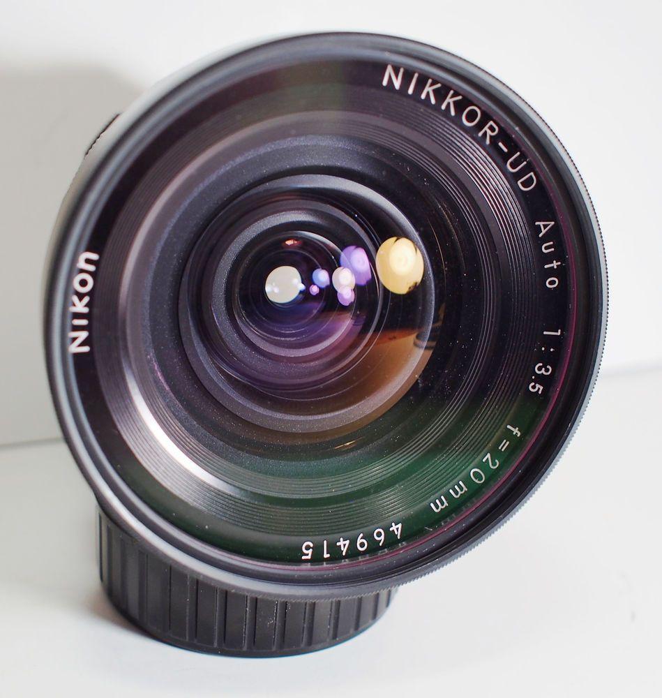 Nikon F NIKKOR-UD Auto 20mm f3.5 Non-AI Very Wide Angle Lens N/MINT #Nikon