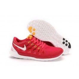 wide range save up to 80% sneakers for cheap Engros Nike Free 5.0 Rød Hvid Gul Herre Sko Skobutik   Bedst Nike ...