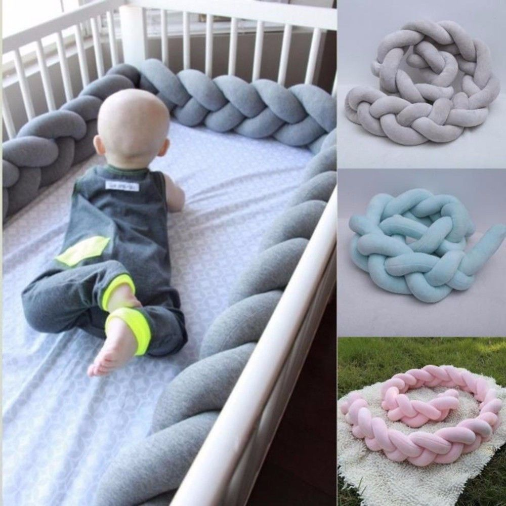 Newborn Bed Guards Baby Bedding Bumper Crib Pad Protection Cot Bumpers 200CM