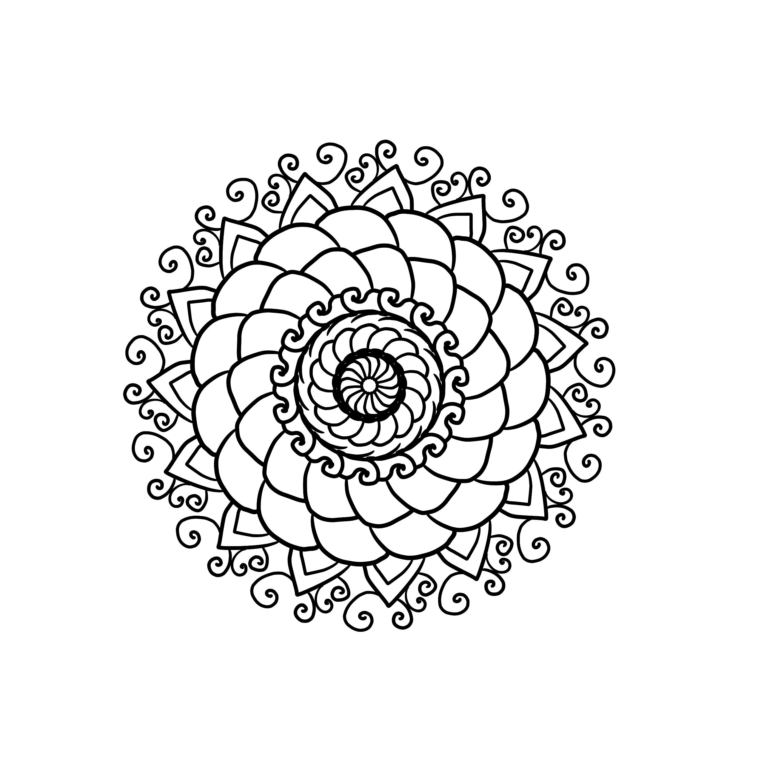 Kostenlose Mandalavorlagen zum herunterladen Mandala Vorlage Ausmalbilder Zeichnen