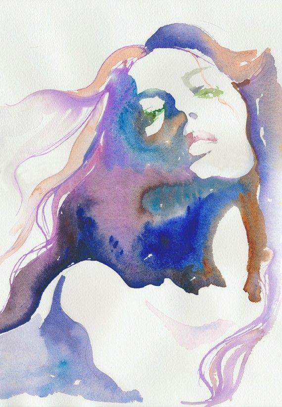 I Love A Water Color Done Well Watercolor Art Portrait