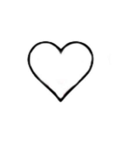heart tattoo on my elbow this shape black outline