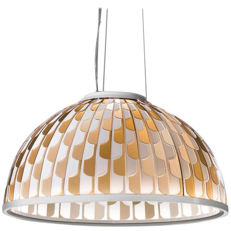 SLAMP Dome Medium Pendant Light in Orange by Analogia