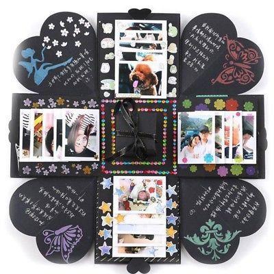 Explosion Box Memory Sammelalbum Foto Album DIY Craft Kits Anniversary Gifts New