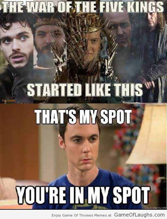 This Is How The War Of Five Kings Started Got Memes Game Of Thrones Game Of Thrones Funny