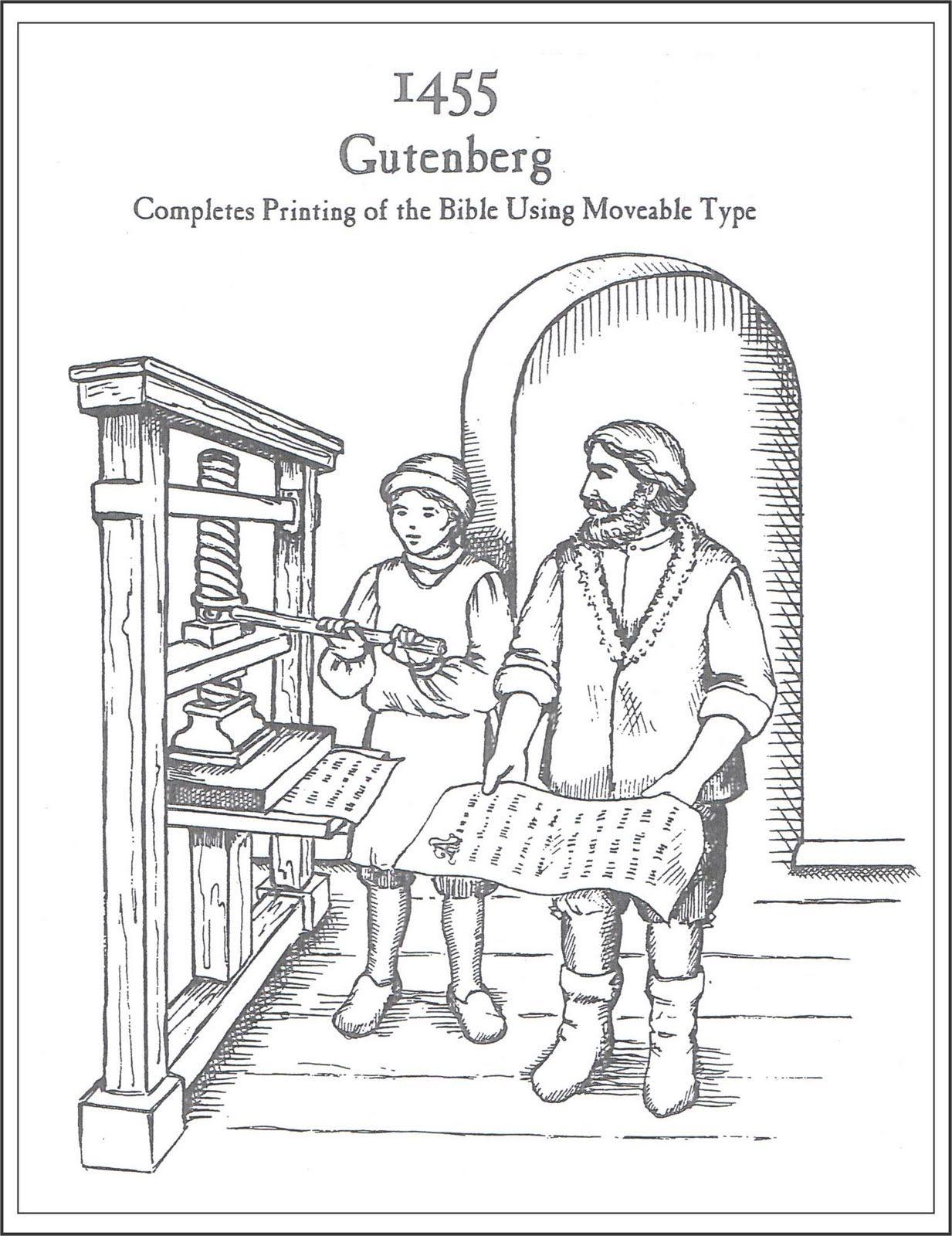 Mrs  Jordan's History Class: Gutenberg's Printing Press