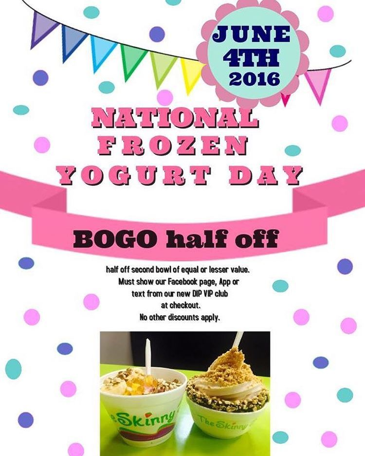 Happy NationalFrozenYogurtDay 🍦We can't wait to celebrate