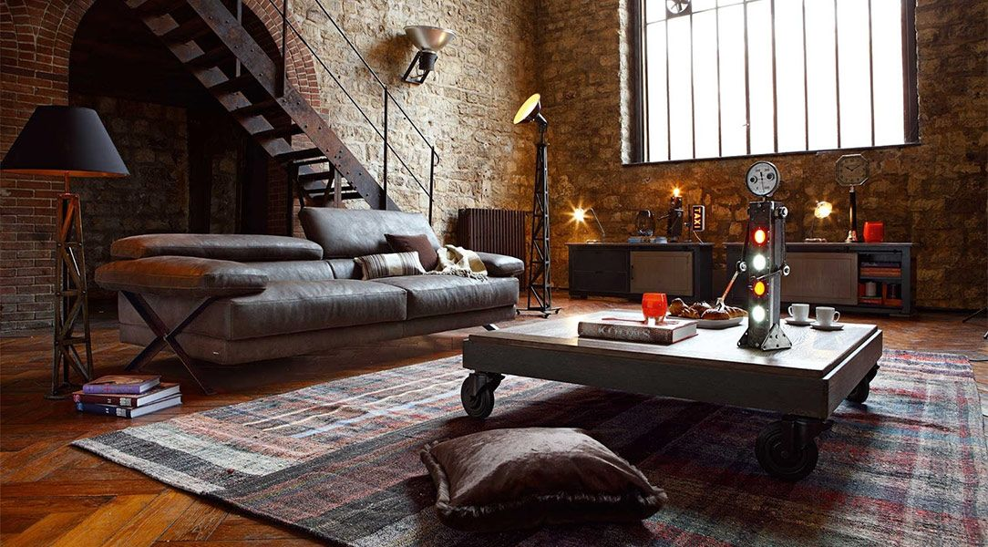 Divano Stile Industriale.Divano Stile Industriale Cerca Con Google Divani Sofa