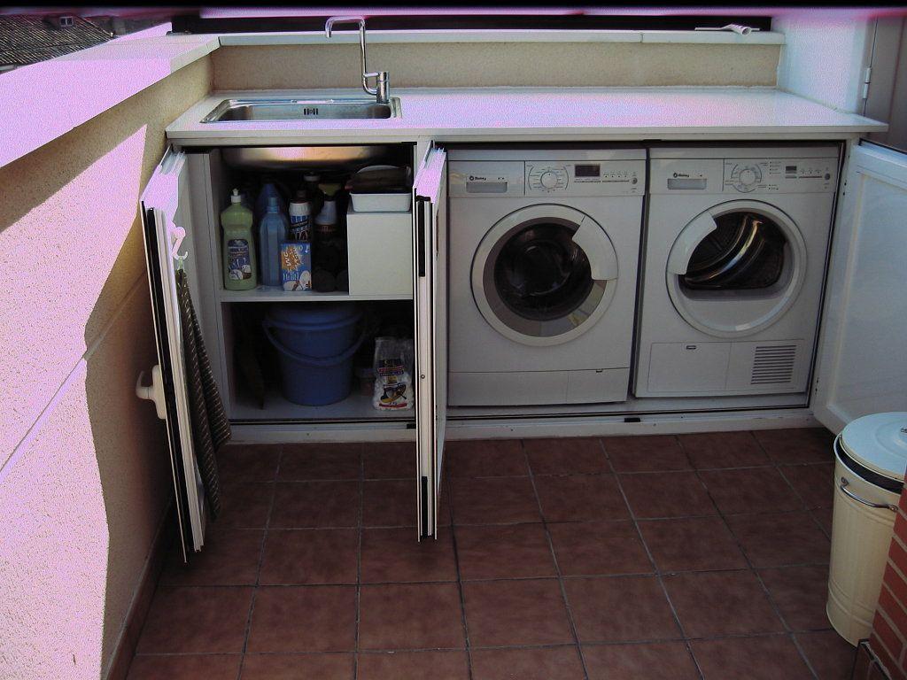 Lavadero exterior laundry pinterest lavaderos for Lavaderos para casa