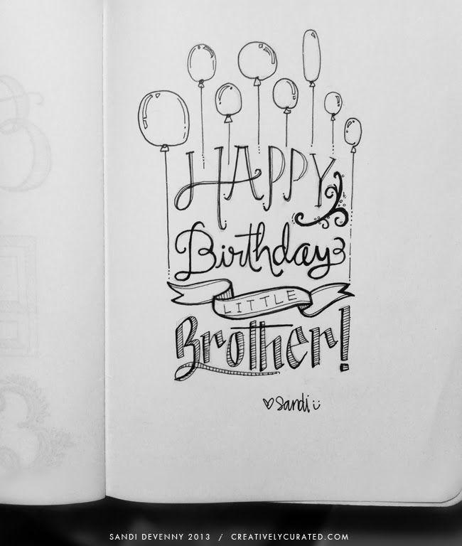 Happy Birthday Hand Lettering, Hand